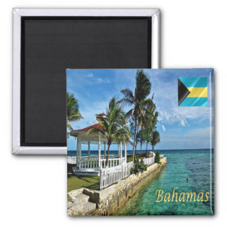 BS - Bahamas - Panorama Square Magnet