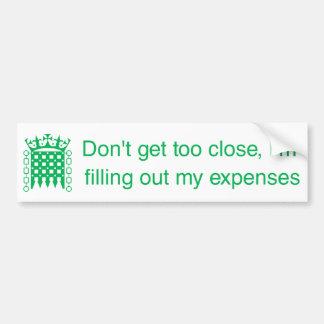 BS_Expenses Bumper Sticker