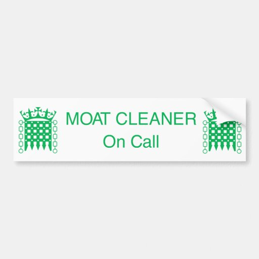 BS_Moat Cleaner Bumper Stickers