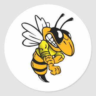 Bsaa Yellow Jackets Under 8 Round Sticker