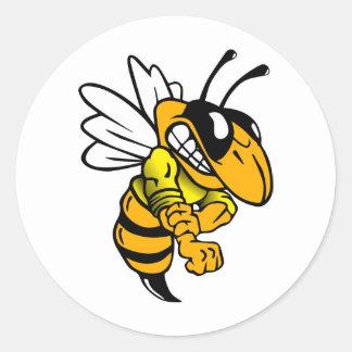 Bsaa Yellow Jackets Under 8 Round Sticker