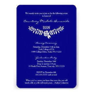 "BSN graduation / RN RDH nurse pinning ceremony 5"" X 7"" Invitation Card"