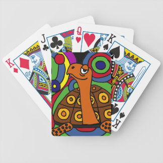 BT- Abstract Art Turtle Playing Cards