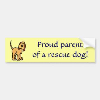 BT- Proud parent of a rescue dog! bumper sticker