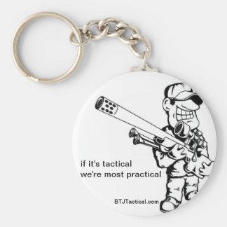 BTJ Tactical Gear Basic Round Button Keychain