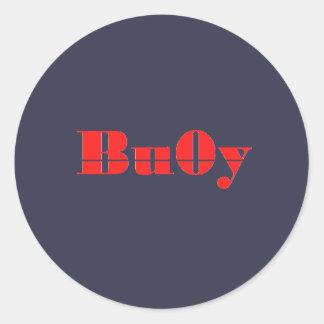 Bu0y Button Round Sticker