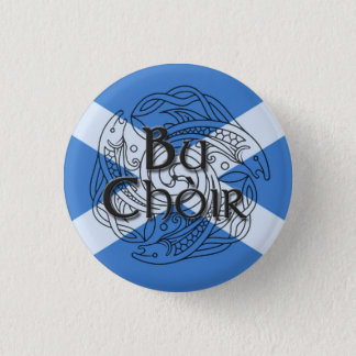 Bu Choir Saltire 1 Inch Round Button