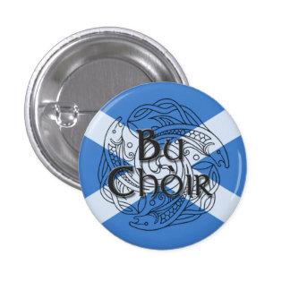 Bu Choir Saltire 1 Inch Round Button