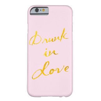 Bu dans le cas de l'iPhone 6 d'amour - rose et or Coque Barely There iPhone 6