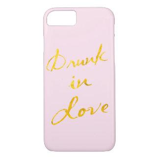 Bu dans le cas de l'iPhone 7 d'amour - rose et or Coque iPhone 7