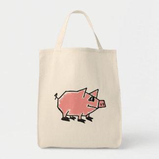 BU- Funny Pig Cartoon Tote Bag