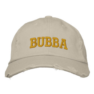 Bubba Embroidered Baseball Caps