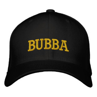 BUBBA EMBROIDERED BASEBALL CAPS