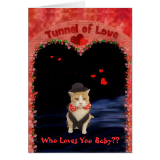 Bubba in the Tunnel of Love Card