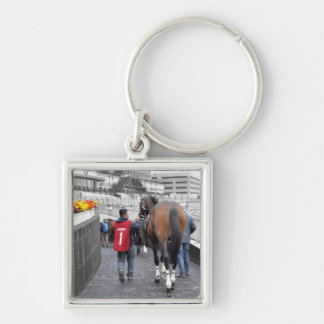 Bubba Meiser Silver-Colored Square Keychain