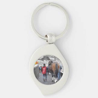 Bubba Meiser Silver-Colored Swirl Keychain