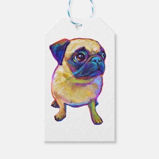 Bubba The Pug Gift Tags