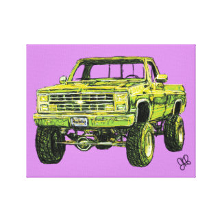 Bubba Truck Canvas Print