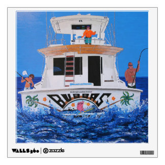Bubba's boat wall sticker