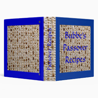 Bubbe's Passover Matzoh Recipe Album - Customize! 3 Ring Binder
