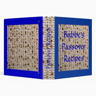Bubbe's Passover Matzoh Recipe Album - Customize! Binders