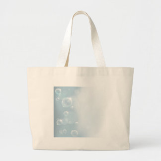 Bubble Backgound Large Tote Bag