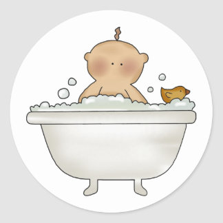 Bubble Bath Baby Stickers