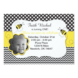 Bubble Bee Birthday Party Invitation