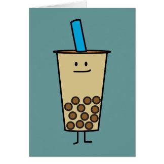 Bubble Boba Pearl Milk Tea Tapioca balls Card