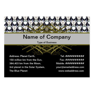 Bubble City Large Business Cards (Pack Of 100)