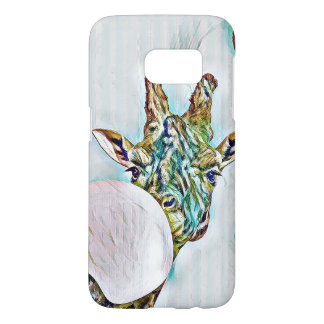 Bubble colorful nerdy giraffe Samsung Galaxy S7 Samsung Galaxy S7 Case