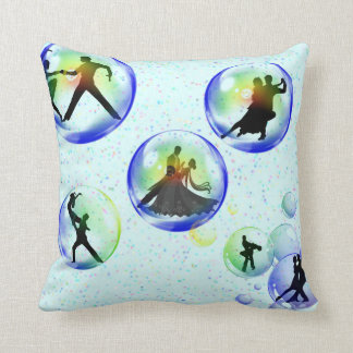 Bubble Dancers Throw Pillow