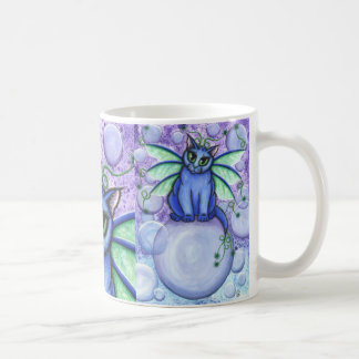 Bubble Fairy Cat Fantasy Winged Cat Art Mug
