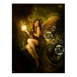 Bubble Fantasy Fairy Postcard