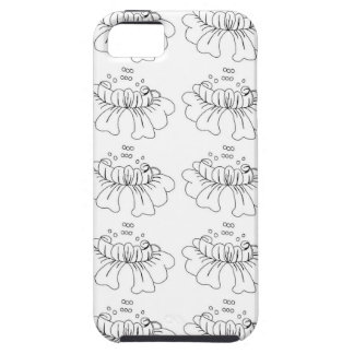 Bubble flower black and white iPhone 5 case