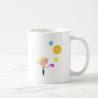 BUBBLE GUM KID. KID WITH BUBBLES COFFEE MUG