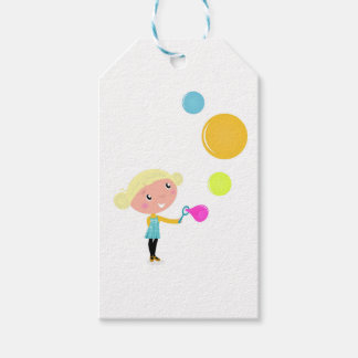 BUBBLE GUM KID. KID WITH BUBBLES GIFT TAGS