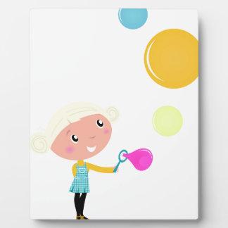 BUBBLE GUM KID. KID WITH BUBBLES PLAQUE