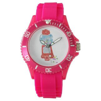 Bubble gum machine. wrist watch