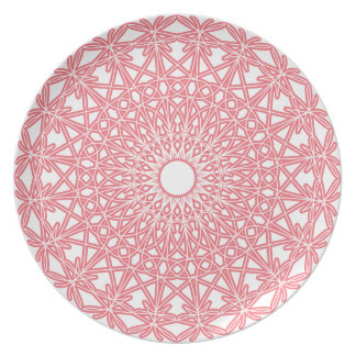 Bubble Gum Pink Crocheted Lace Plate