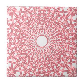 Bubble Gum Pink Crocheted Lace Tile