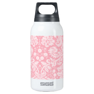Bubble Gum Pink Damask Pattern Insulated Water Bottle