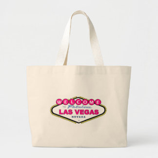 Bubble Gum Pink Las Vegas Ladie's Classic Bag! Large Tote Bag