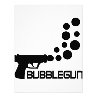 bubble gun icon customized letterhead