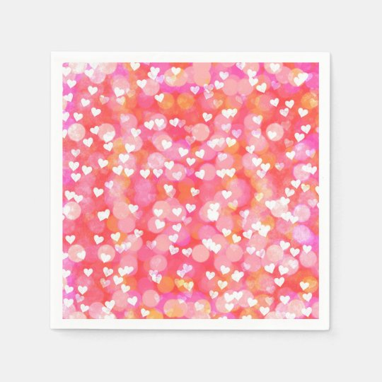 Bubble Hearts Paper Napkins