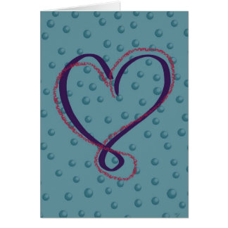Bubble Love: blank greeting card
