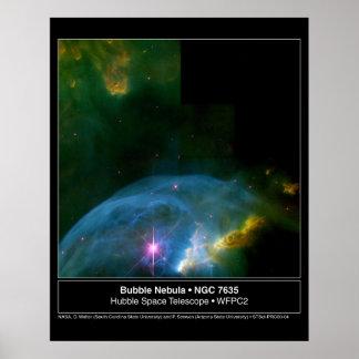 Bubble Nebula 7635 Hubble Telescope Poster