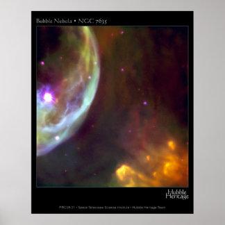 Bubble Nebula - NGC 7635 Hubble Telescope Poster