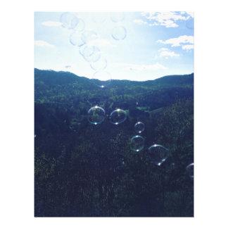Bubble on the mountain letterhead