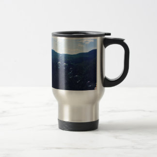 Bubble on the mountain travel mug